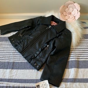 NWT black leather Urban Republic jacket